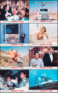 Licence to Kill & Other Lot (UIP, 1989). Overall Grade: Very Fine+. British Front of House Mini Lobby Card Set of 8...