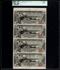D(aniel) N. Morgan Courtesy Autographed Fr. 224 $1 1896 Silver Certificates Uncut Sheet of Four Serial Numbers 5-8 PCGS...