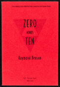 """Movie Posters:James Bond, Zero Minus Ten by Raymond Benson (G.P. Putman Sons, 1997). Very Fine. Autographed Uncorrected Paperback Proof (273 Pages, 6""""..."""
