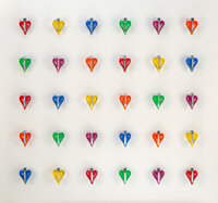 Mauro Perucchetti (b. 1949) The Power of Love (6x5), 2008 Resin, stainless steel, and acrylic 63