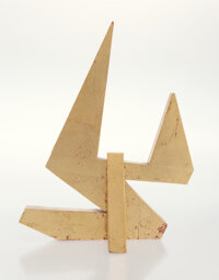 Betty Gold (b. 1935) Untitled Wood with gold leaf 14 x 9-3/4 x 8 inches (35.6 x 24.8 x 20.3 cm)
