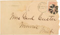 Autographs:Military Figures, George Custer Signed Envelope. ...
