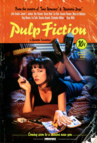 "Pulp Fiction (Miramax, 1994). Rolled, Near Mint. One Sheet (27"" X 40"") SS Withdrawn Advance, Lucky Strike Styl..."