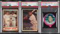 Baseball Cards:Lots, 1957-73 Topps Willie Mays PSA Graded Trio (3).... (Total: 3 items)