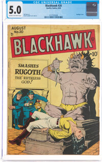 Blackhawk #20 (Quality, 1948) CGC VG/FN 5.0 Cream to off-white pages