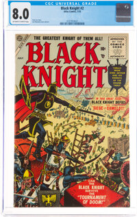 Black Knight #2 (Atlas, 1955) CGC VF 8.0 Off-white to white pages