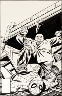 Dave Cockrum and Frank Giacoia Amazing Spider-Man #197 Cover Kingpin Original Art (Marvel, 1979)