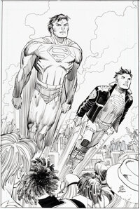 John Romita Jr., Klaus Janson, and Danny Miki Action Comics #1022 Cover and Complete 22-Page Story Original Art Gr... (T...