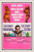 "Movie Posters:James Bond, Goldfinger/Dr. No Combo (United Artists, R-1966). Folded, Very Fine-. One Sheet (27"" X 41""). James Bond.. ..."