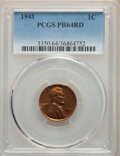 Proof Lincoln Cents: , 1941 1C PR64 Red PCGS. PCGS Population: (891/1022). NGC Census: (322/490). CDN: $70 Whsle. Bid for NGC/PCGS PR64. Mintage 2...