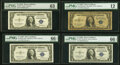 Small Size:Silver Certificates, Fr. 1615 $1 1935F Silver Certificates. B-J (3) and Z-I Blocks. PMG Graded Fine 12-Gem Uncirculated 66 EPQ.. ... (To...