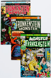 Frankenstein #1-18 Complete Run Group (Marvel, 1973-75) Condition: Average FN.... (Total: 18 Comic Books)