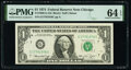 Small Size:Federal Reserve Notes, Fancy Serial Number 17761976 Fr. 1908-G $1 1974 Federal Reserve Note. PMG Choice Uncirculated 64 EPQ.. ...