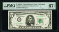 Small Size:Federal Reserve Notes, Fr. 1968-D $5 1963A Federal Reserve Note. PMG Superb Gem Unc 67 EPQ.. ...