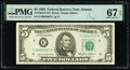 Small Size:Federal Reserve Notes, Fr. 1978-F $5 1985 Federal Reserve Note. PMG Superb Gem Unc 67 EPQ.. ...