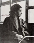 """Autographs, Rosa Parks Signed Photograph. 8"""" x 10"""". Glossy bl..."""