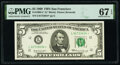 Small Size:Federal Reserve Notes, Fr. 1969-L* $5 1969 Federal Reserve Star Note. PMG Superb Gem Unc 67 EPQ.. ...
