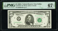 Small Size:Federal Reserve Notes, Fr. 1970-K* $5 1969A Federal Reserve Star Note. PMG Superb Gem Unc 67 EPQ.. ...