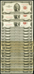 An Assortment of Nineteen $2 Legal Tender Notes. Very Good to Abut Uncirculated