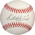 Baseball Collectibles:Balls, Circa 1969 Satchel Paige Single Signed Baseball from The Bill Fundaro Collection, PSA/DNA 8....