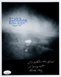 """Autographs:Military Figures, Theodore """"Dutch"""" Van Kirk and Russell Gackenbach Signed Photograph. ..."""