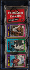 Baseball Cards:Unopened Packs/Display Boxes, 1975 Topps Baseball Rack Pack - BBCE Authenticated. ...