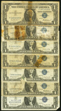 A Mixture of Seven $1 Silver Certificates and Twenty $2 Legal Tender Notes. Good or Better