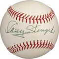 Baseball Collectibles:Balls, Circa 1969 Casey Stengel Single Signed Baseball from The Bill Fundaro Collection, PSA/DNA NM-MT 8....