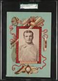 Baseball Cards:Singles (Pre-1930), C. 1910 Notebook Covers Rube Waddell (Proof) SGC Authentic. ...