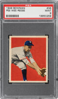 Baseball Cards:Singles (1940-1949), 1949 Bowman Pee Wee Reese #36 PSA Mint 9 - Only One Higher. ...