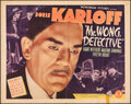 """Movie Posters:Mystery, Mr. Wong, Detective (Monogram, 1938). Folded, Fine+. Half Sheet (22"""" X 28""""). Mystery.. ..."""