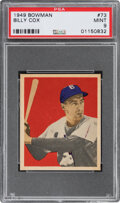 Baseball Cards:Singles (1950-1959), 1949 Bowman Billy Cox #73 PSA Mint 9 - Pop Two, One Higher....