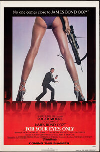 """For Your Eyes Only (United Artists, 1981). Rolled, Fine/Very Fine. One Sheet (27"""" X 41"""") Advance. James Bond..."""