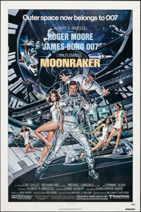 "Moonraker (United Artists, 1979). Rolled, Very Fine-. One Sheet (27"" X 41"") Dan Goozee Artwork. James Bond..."
