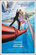 "Movie Posters:James Bond, A View to a Kill (United Artists, 1985). Rolled, Very Fine. One Sheet (27"" X 41"") SS, Dan Goozee Artwork. James Bond.. ..."