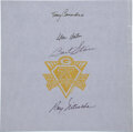 Football Collectibles:Others, 1993 Green Bay Packers Retired Numbers Multi-Signed Sheet. ...