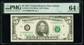 Small Size:Federal Reserve Notes, Low Serial Number 149 Fr. 1973-F $5 1974 Federal Reserve Note. PMG Choice Uncirculated 64 EPQ.. ...