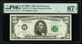 Small Size:Federal Reserve Notes, Fr. 1972-L* $5 1969C Federal Reserve Star Note. PMG Superb Gem Unc 67 EPQ.. ...