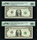 Small Size:Federal Reserve Notes, Fr. 1900-B $1 1963 Federal Reserve Notes. B-B and B-C Bloc...
