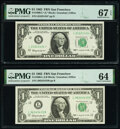 Small Size:Federal Reserve Notes, Fr. 1900-L; L* $1 1963 Federal Reserve Notes. PMG Graded C...