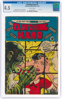 Clutching Hand #1 (ACG, 1954) CGC VG+ 4.5 Off-white pages