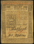 Pennsylvania October 1, 1773 50s Extremely Fine