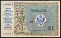 Military Payment Certificates:Series 472, Series 472 $1 Replacement Very Fine-Extremely Fine.. ...