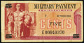 Military Payment Certificates:Series 692, Series 692 5¢ Replacement Fine-Very Fine.. ...