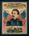 Political:Posters & Broadsides (pre-1896), George B. McClellan: A Very Large & Colorful Poster Depicting Lincoln's 1864 Opponent. ...