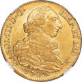 Colombia, Colombia: Charles III gold 8 Escudos 1783 P-SF AU58 NGC,...