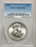 Franklin Half Dollars, 1950 50C MS65 Full Bell Lines PCGS. PCGS Population: (1578/362). NGC Census: (430/81). CDN: $110 Whsle. Bid for NGC/PCGS MS...