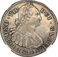 Colombia, Colombia: Ferdinand VII 8 Reales 1814 P-JF XF45 NGC,...