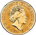"Great Britain: Elizabeth II gold Proof ""Mayflower 400th Anniversary"" 100 Pounds (1 oz) 2020 PR70 Ultra Cameo N..."