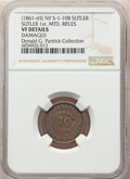 Civil War Tokens, (1861-65) New York Sutler Token, J.J. Benson, 1st Mounted Rifles, NY S-1-10B, R.6 -- Damaged -- NGC Details. VF..